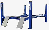 Подъемник четырехстоечный г/п 5500 кг. платформы для сход-развала KraftWell KRW5.5WA_blue