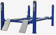 Подъемник четырехстоечный г/п 6500 кг. платформы для сход-развала KraftWell KRW6.5WA_blue
