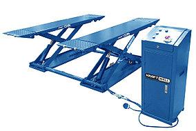 Подъёмник ножничный короткий шиномонтажный г/п 3000 кг. KraftWell KRW3TN/380_blue