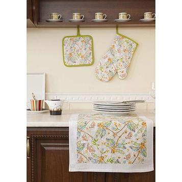 Набор кухонный «Стрекозы»: прихватки - 2 шт, полотенце 38 × 64 см - 2 шт