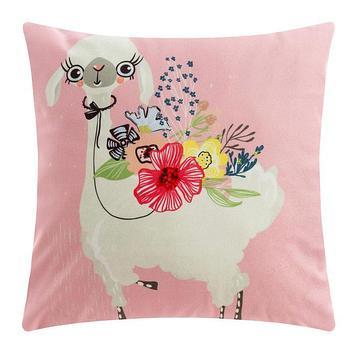 """Чехол на подушку Этель """"Cute llama"""" 40 х 40 см, велюр"""