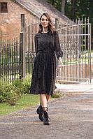 Женское осеннее шифоновое черное нарядное платье Prestige 3917/170 44р.