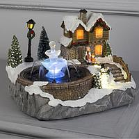 """Фигура световая """"Новогодний фонтан с водой"""" 18х23 см, 6 LED, АА*3 (не в компл), ТЁПЛОЕ БЕЛОЕ"""