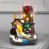 "Фигура световая ""Новогодняя мельница"", 15 LED, крут. пропеллер, ААА*3 (не в компл), МУЛЬТИ"