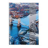"""Тетрадь А4, 60 листов """"Городской стиль. Лондон"""", обложка мелованный картон, блок офсет"""
