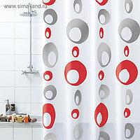 Штора для ванной комнаты Bacchetta Bolle, 180 х 200 см, ПВХ, серая