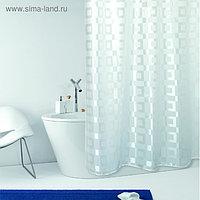 Штора для ванной комнаты Dama, 240 х 200 см, белая