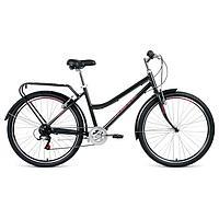 """Велосипед 26"""" Forward Barcelona Air 1.0, 2021, цвет серый/розовый, размер 17"""""""