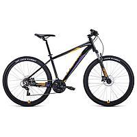 """Велосипед 27,5"""" Forward Apache 3.2 disc, 2021, цвет черный/оранжевый, размер 21"""""""