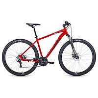 """Велосипед 29"""" Forward Apache 2.2 disc, 2021, цвет красный/серебристый, размер 21"""""""