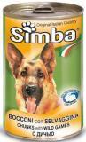 Simba Dog Симба Консервы для собак кусочки с дичью, 1230 г