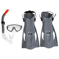 Набор для плавания Meridian, для взрослых, маска, ласты, трубка, от 14 лет, размер 41-46, цвет МИКС, 25020