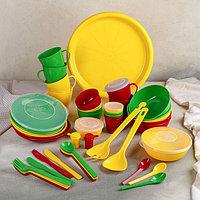Набор посуды 'Приятного отдыха', на 6 персон, в футляре-сумке, цвет МИКС