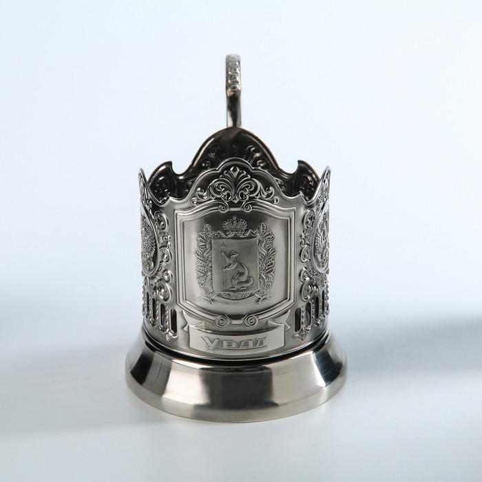 Подстаканник 'Урал', никелированный, с чернением - фото 1
