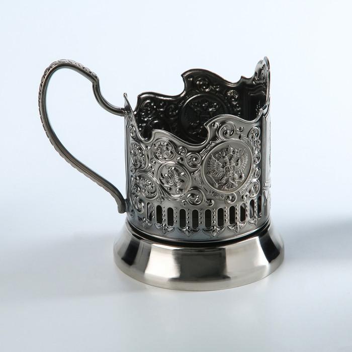 Подстаканник 'Урал', никелированный, с чернением - фото 2