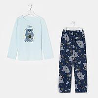 Пижама детская, цвет мята/синий, рост 122-128 см