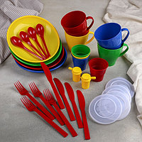 Дорожный набор посуды на 4 персоны в мягком футляре