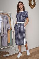 Женское осеннее синее платье Fantazia Mod 3923 46р.