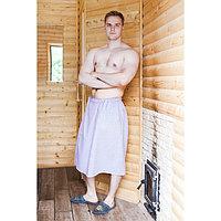 Килт для бани и сауны 'Добропаровъ', 150х75 см, мужской, хлопковый, микс