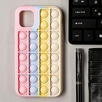 Чехол POP IT для iPhone 11, силиконовый, разноцветный