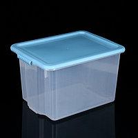 Контейнер для хранения с крышкой Porter, 21 л, 43x31,5x26,5 см, цвет васильковый