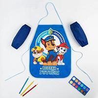Набор детский для творчества PAW PATROL 'Всегда готовы', (фартук 49х39 см и нарукавники)