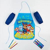 Набор детский для творчества PAW PATROL 'Щенячий Патруль', (фартук 49х39 см и нарукавники)
