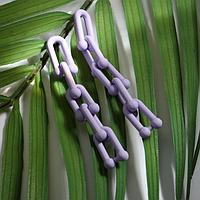 Серьги пластик 'Цепь' дуги, цвет фиолетовый