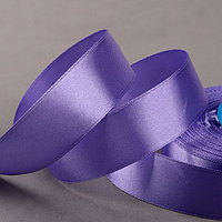 Лента атласная, 25 мм x 33 ± 2 м, цвет фиолетовый 082