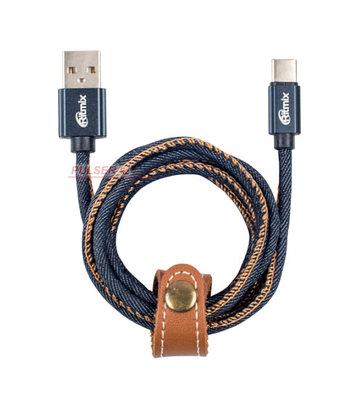 Кабель USB, Ritmix RCC-437, 1.0м синий