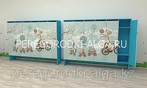 Шкаф для одежды с фотопечатью на цоколе Детский
