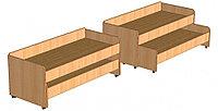 Кровать двухъярусная выкатная для детского сада (1460х640х510) арт. КР3, фото 1