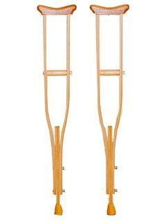 Костыли деревянные Мега-оптим 01-К (подростковые) пара