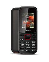 Мобильный телефон teXet ТМ-128 цвет черный-красный