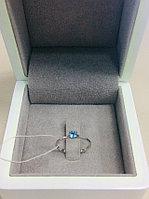 Кольцо с топазом / серебро - 16,5 размер
