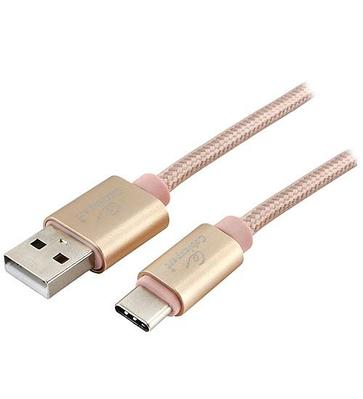 Кабель USB, Cablexpert CC-S-USBC01G-1M, золото