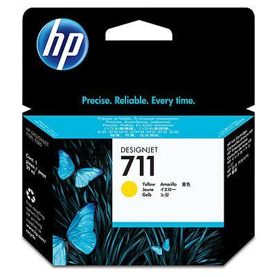 HP CZ132A Yellow Ink Cartridge №711 for Designjet T120/T520 ePrinter, 29 ml.