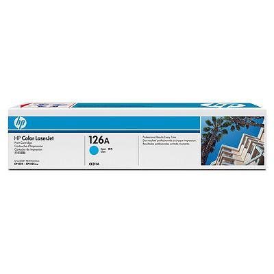 HP CE311A 126A Cyan Print Cartridge for Color LaserJet CP1025/Pro 100 Color MFP M175/Pro 200 Color MFP