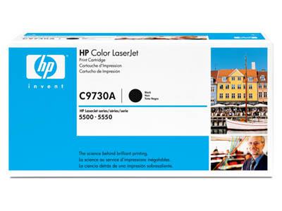 HP C9730A Toner Cartridge Black for Color LaserJet 5500/5550, up to 13000 pages.