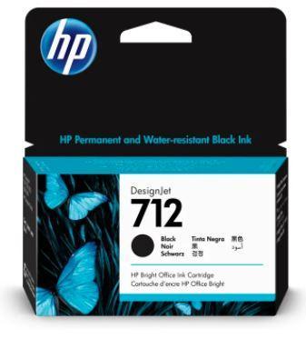 HP 3ED70A 712 38ml Black Ink Cartridge for DesignJet T230/T250/T630/T650