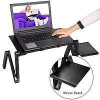 Столик для ноутбука черный/розовый