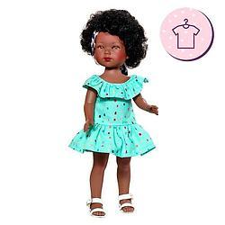 Карлота афроамериканка в голубом платье с повязкой/ 28 см/CAR727/ (Vestida de Azul, Испания)