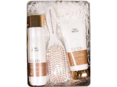 Набор по уходу за волосами Wella Professionals set Fusion Shampoo 250 Conditioner 200 ml расческа в подарок - фото 2