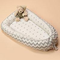 Кокон-гнездышко для новорожденных для сна серый Р-6-702 Патрино
