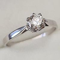 Золотое кольцо с бриллиантами 0.44Сt SI2/L, EX - Cut