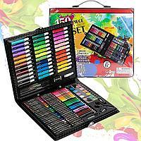 Набор для рисования Artistic Set 150 pieces фломастеры мелки карандаши краски черный