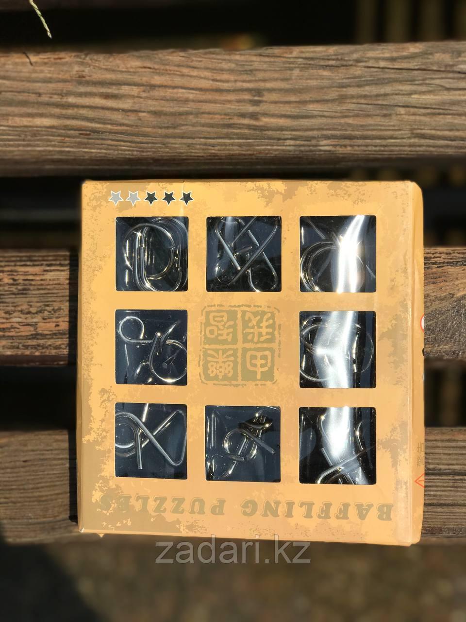 Набор металлических головоломок «Metal Puzzle» 9 шт