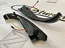 Повторители поворотов в зеркала с ДХО Плазма (2 режима, чёрное стекло) Приора SE, фото 3