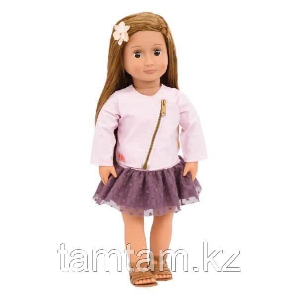 """Кукла """"Виена в розовой кожаной курткe"""" 46 см от Our Generation/ Канада - фото 4"""