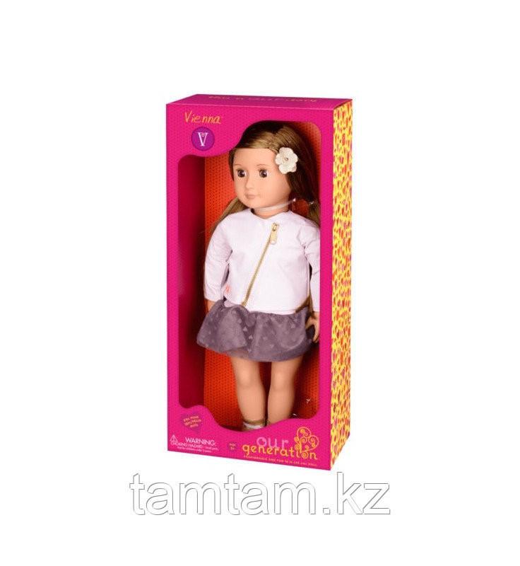 """Кукла """"Виена в розовой кожаной курткe"""" 46 см от Our Generation/ Канада - фото 6"""